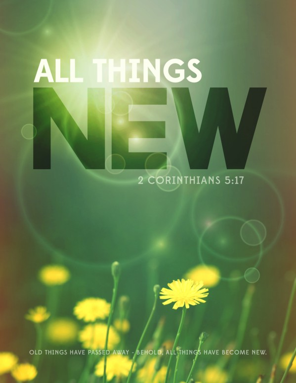 All Things New Religious Flyer
