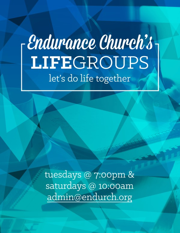 Life Groups Christian Flyer