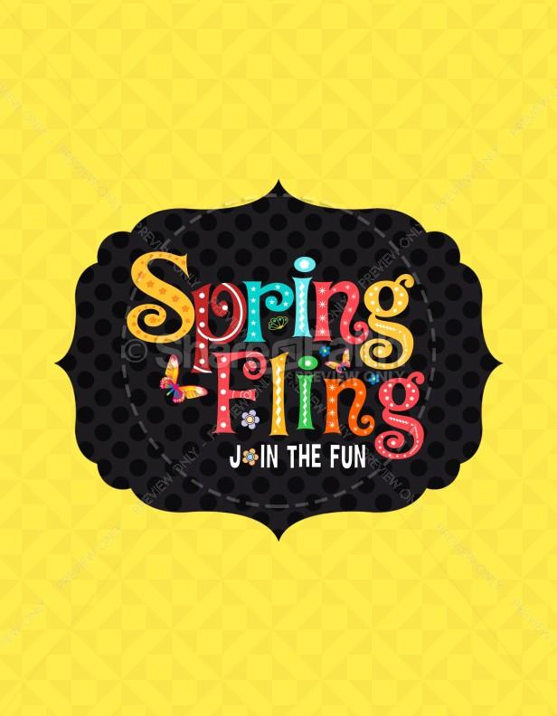 Spring Fling Ministry Flyer