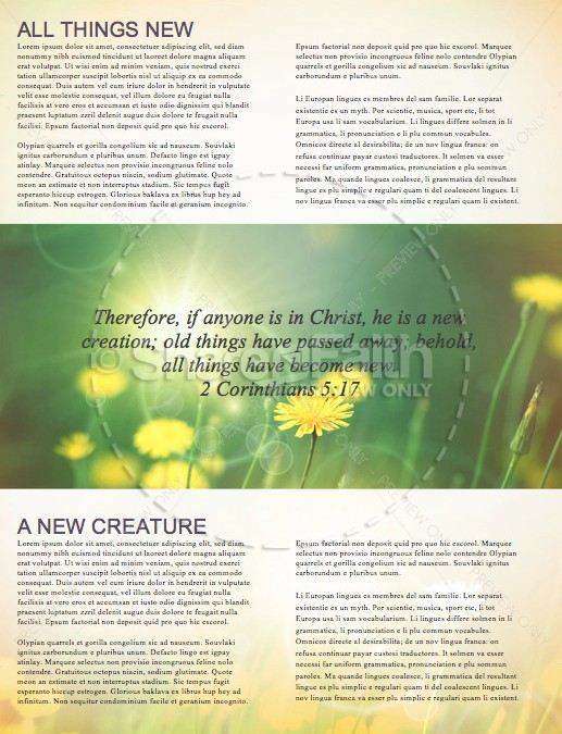 All Things New Religious Newsletter