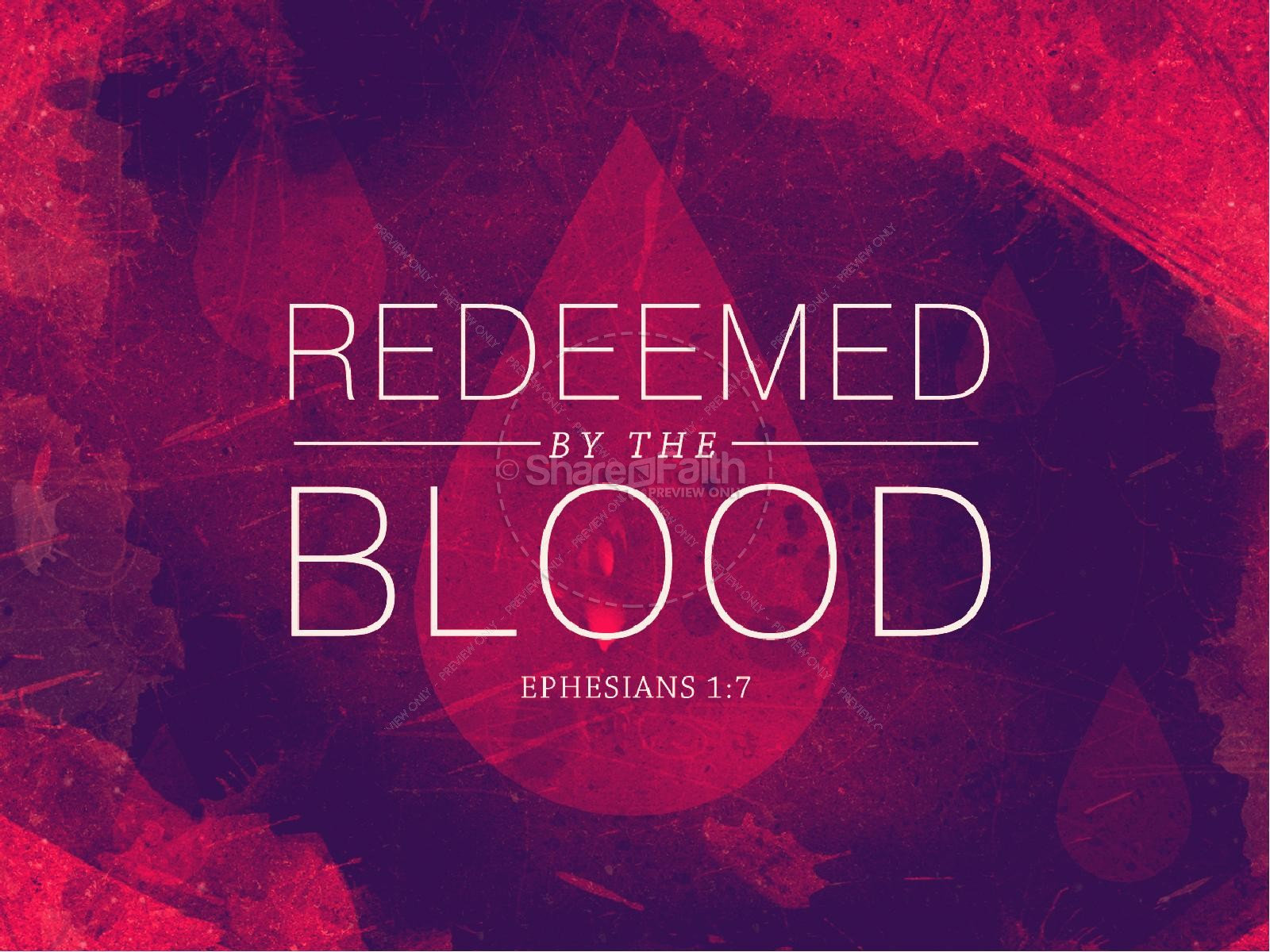 redeemed by the blood religious powerpoint powerpoint