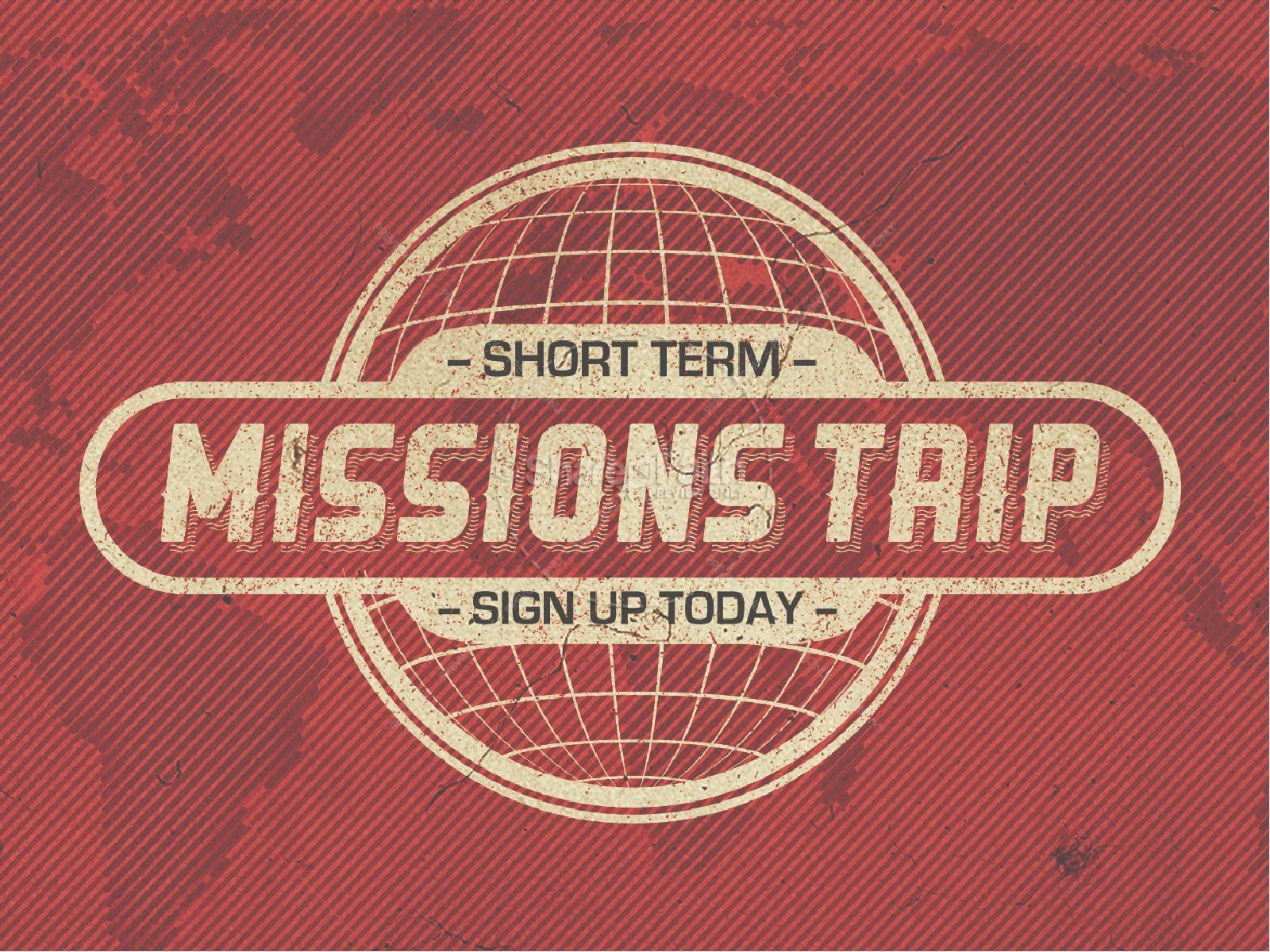 Short Term Mission Trip Religious PowerPoint