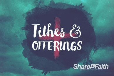 Good Friday Religious Tithes and Offerings Motion Background