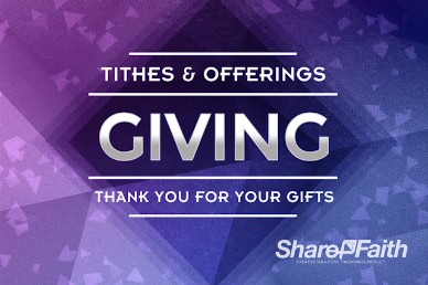 Saved Through Faith Religious Tithes and Offerings Video