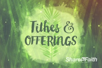 Palm Sunday Religious Tithes And Offerings Video