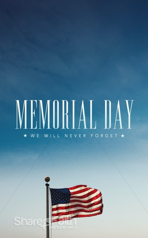 Memorial Day Never Forget Ministry Bulletin Secular