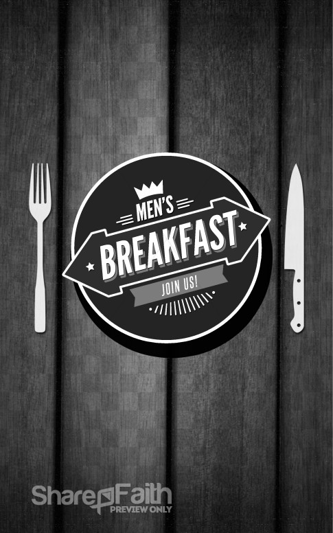 Men 39 s Breakfast Church Bulletin
