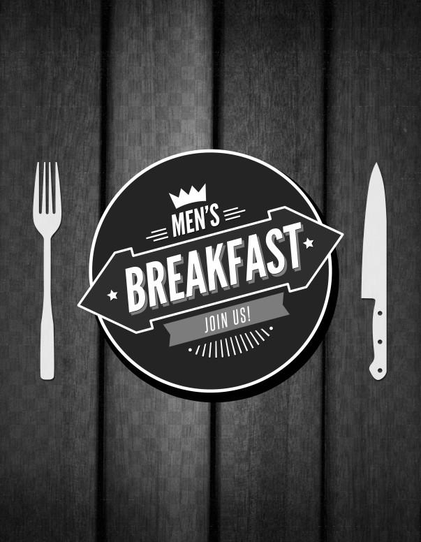 Men's Breakfast Church Flyer