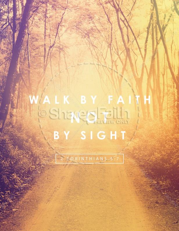 walk by faith ministry flyer