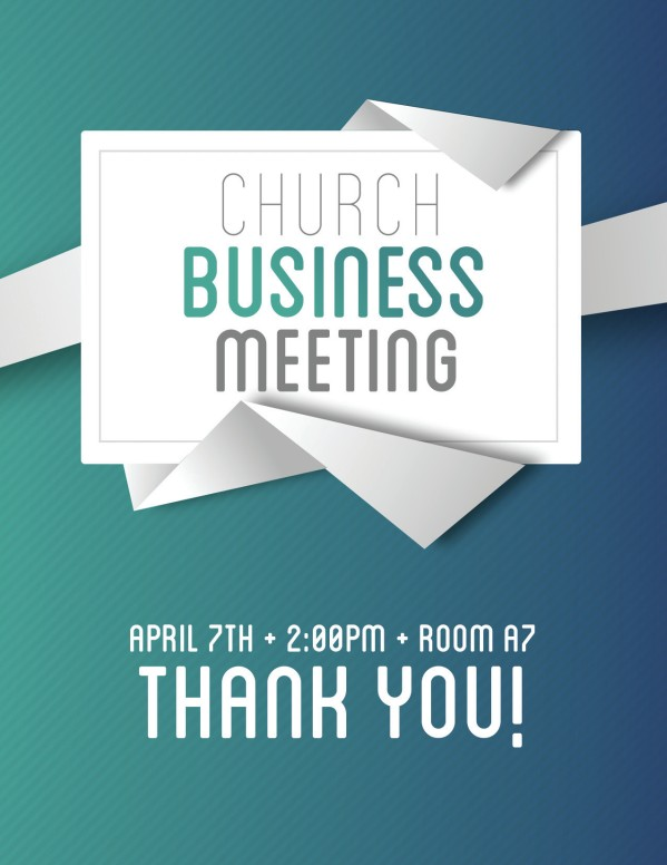 Church Business Meeting Flyer