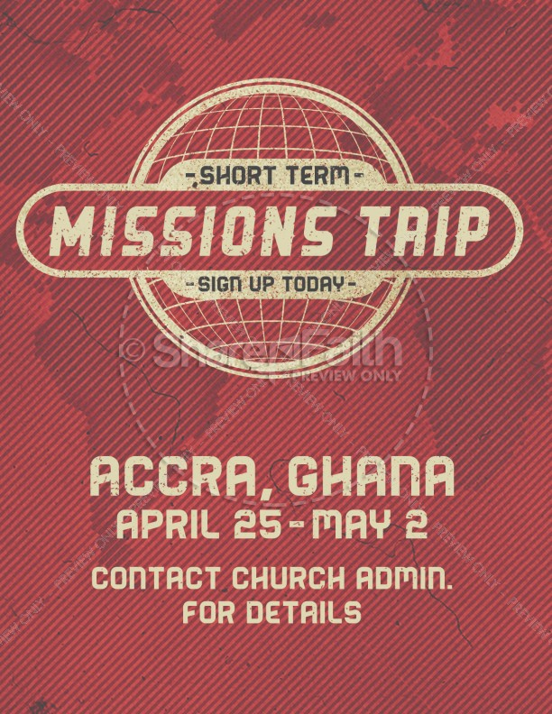 Short Term Mission Trip Religious Flyer