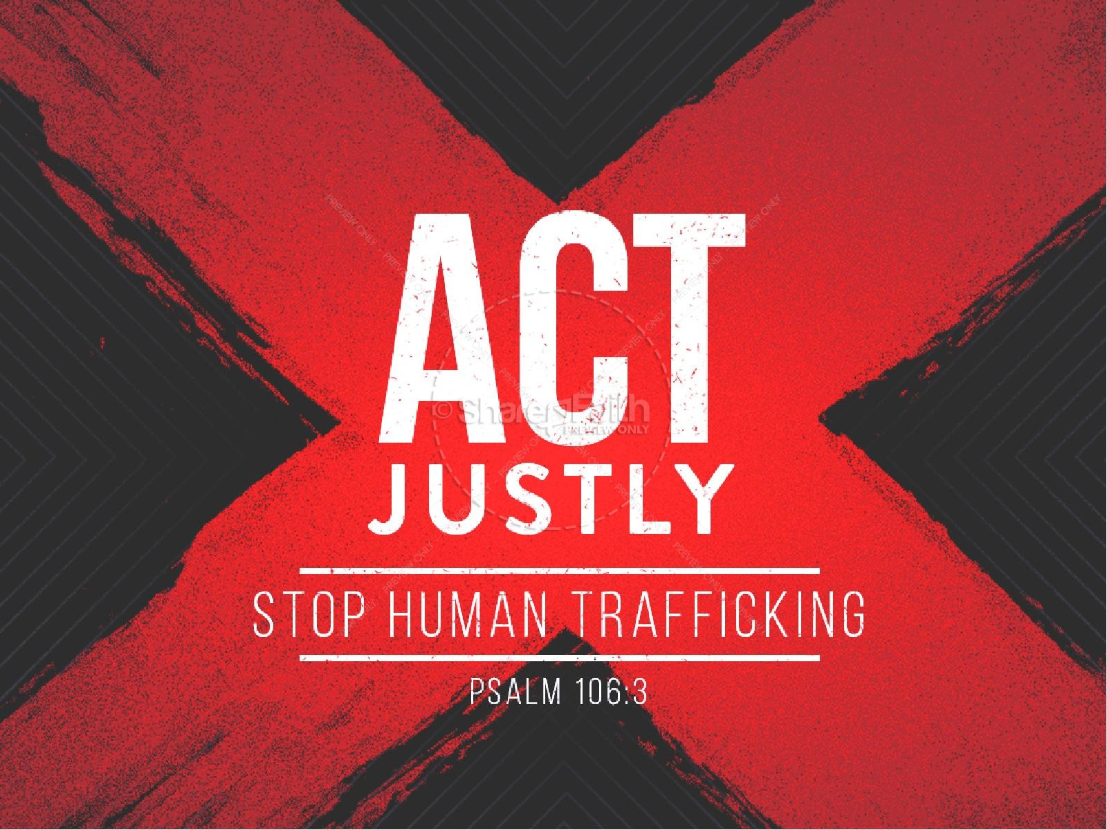 Act Justly Christian PowerPoint