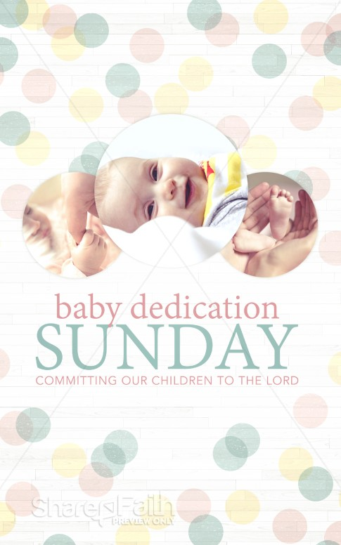 Baby Dedication Ministry Bulletin Sermon Bulletin Covers