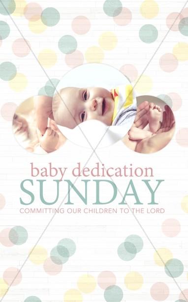 Baby Dedication Ministry Bulletin