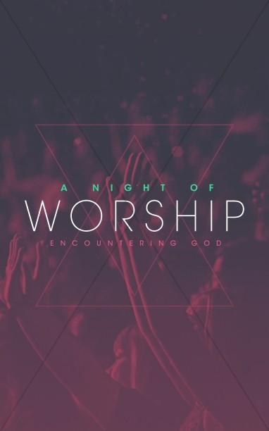 Night of Worship Church Bulletin