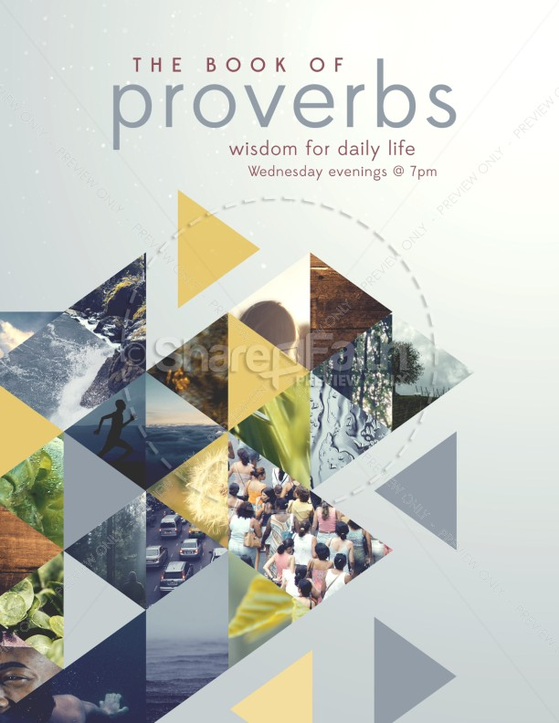 The Book of Proverbs Ministry Flyer