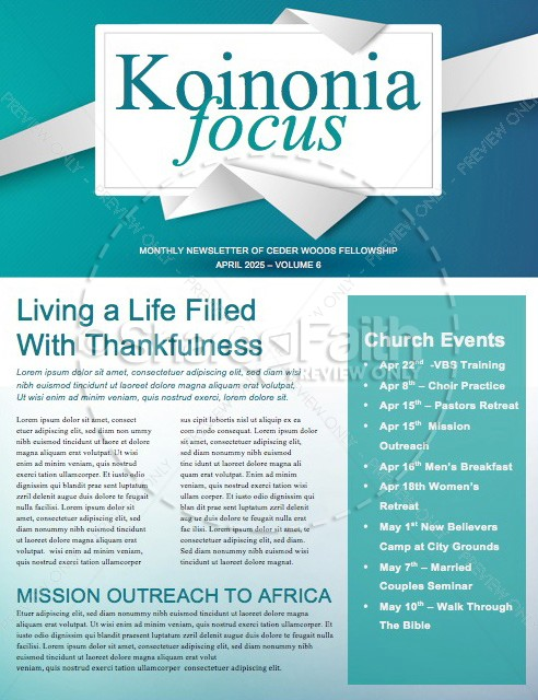 Springtime Church Newsletter