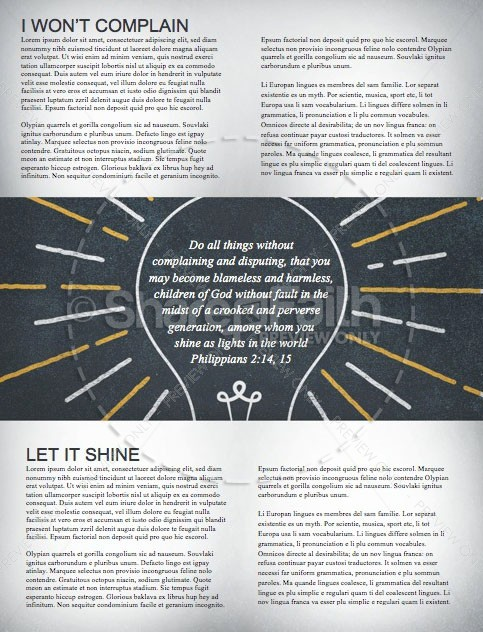 Shine Like Stars Church Newsletter