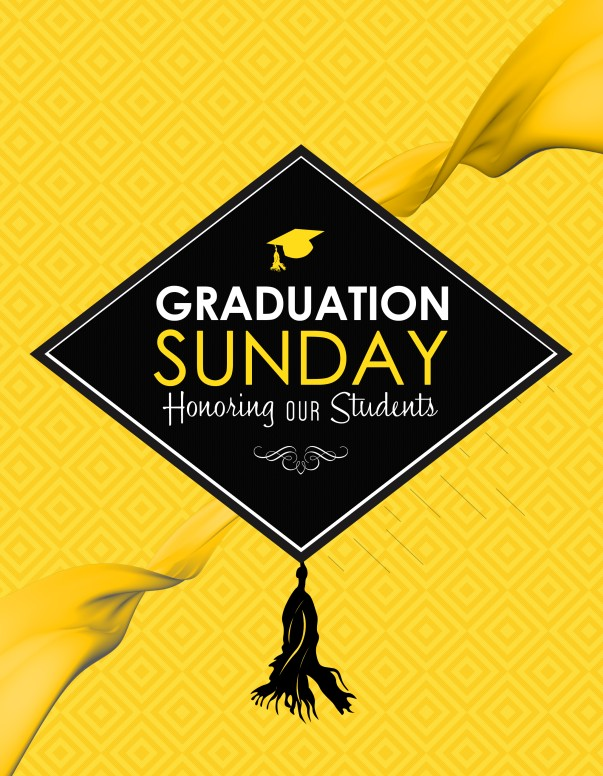 Graduation Sunday Honoring Church Flyer