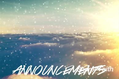 Sparkle Cloud Church Announcement Video loop