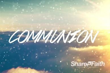 Sparkle Cloud Church Communion Motion Video Loop