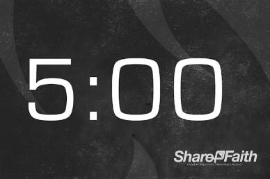 Grunge Church 5 Minute Countdown Video Loop