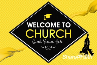 Graduation Sunday Honoring Church Welcome Motion Background