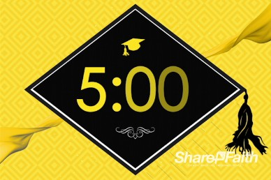 Graduation Sunday Honoring Church Five Minute Countdown Timer