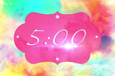 Colors and Mothers Ministry Five Minute Countdown Timer