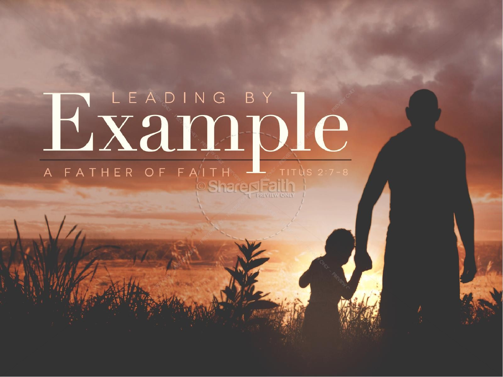 Leading by Example Father's Day Church PowerPoint