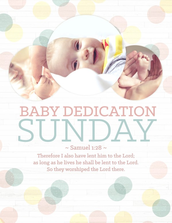 Baby Dedication Ministry Flyer