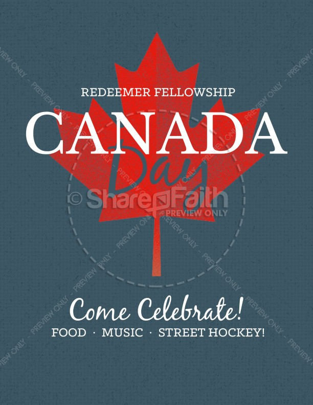 Canada Day Church Flyer