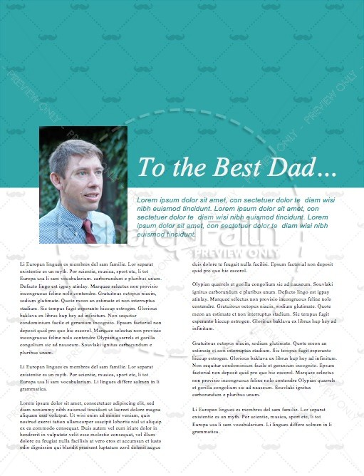 Father's Day Thanks Christian News Letter