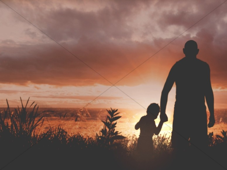 Leading by Example Father's Day Church Worship Background