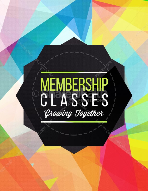 Membership Classes Church Flyer