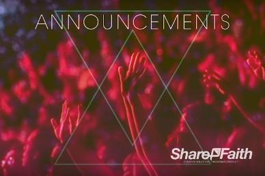 Hands Praise Worship Church Announcements Video