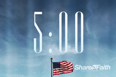 Blue Sky Memorial Day Church 5 Minute Countdown Timer