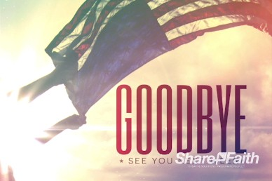Independence Day Christian Goodbye Background Video