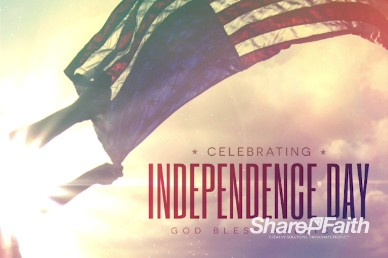 Independence Day Christian Title Video Loop