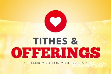 You Are Welcome Religious Tithes and Offerings Video Loop