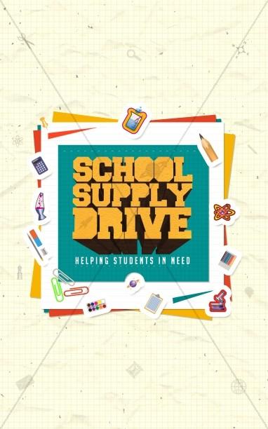 School Supply Drive Ministry Bulletin