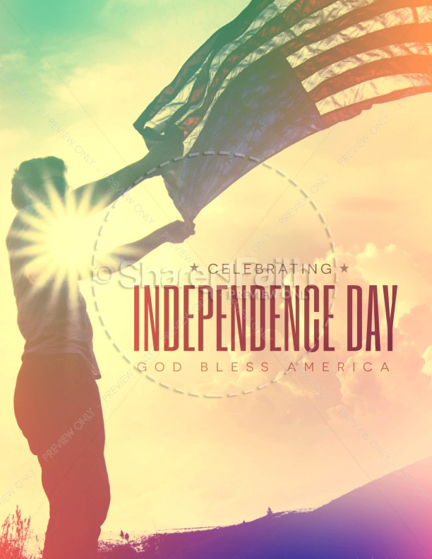 Independence Day Flag Religious Flyer | page 1