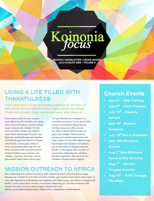 Membership Classes Church Newsletter