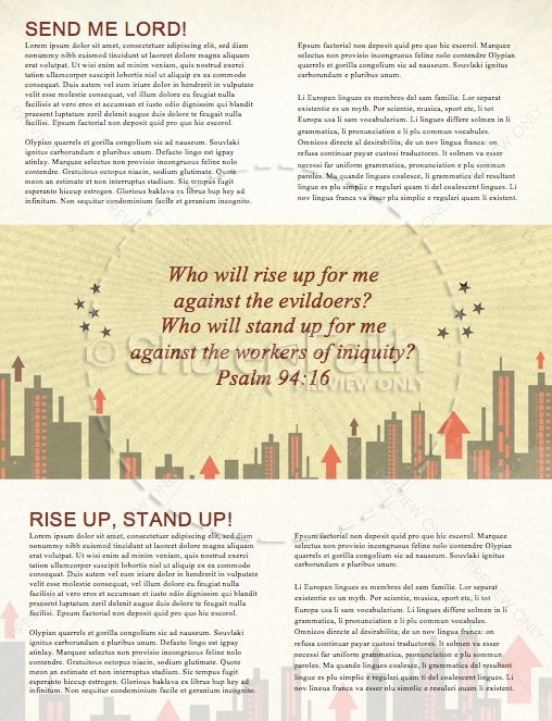 Rise Up Christian Newsletter