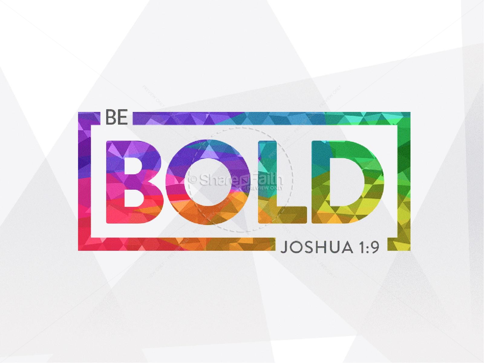 Be Bold Christian PowerPoint