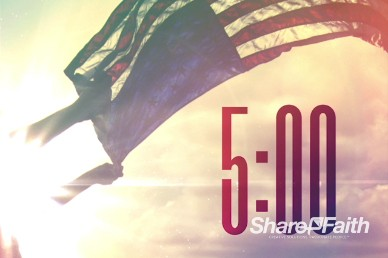Independence Day Flag Religious Five Minute Countdown