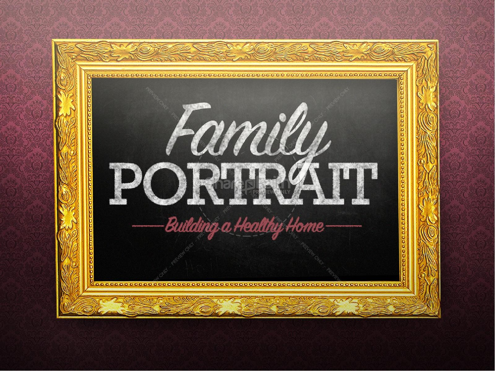 Family Portrait Church PowerPoint