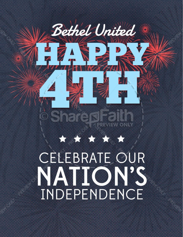 Happy Fourth of July Religious Flyer