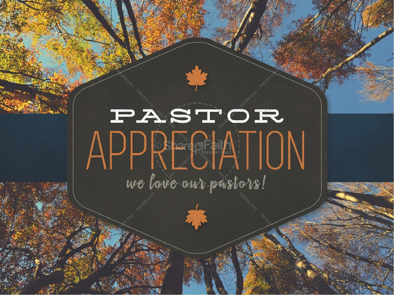 Pastor Appreciation Ministry Church PowerPoint