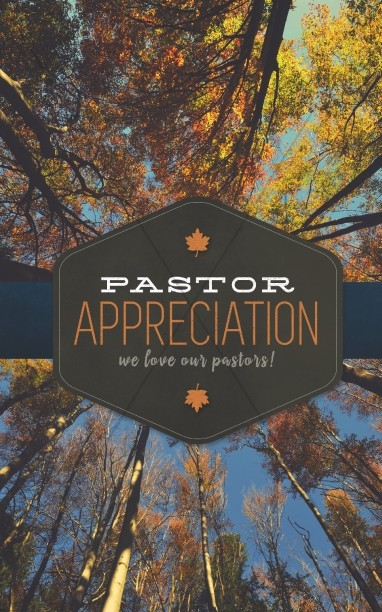 Pastor Appreciation Ministry Church Bulletin